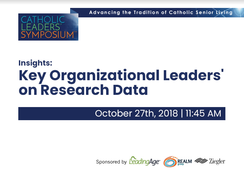 Insights: Key Organizational Leaders' on Research Data